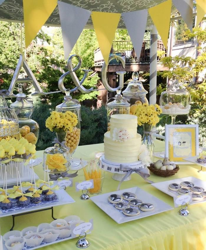 grey and yellow wedding colors 26