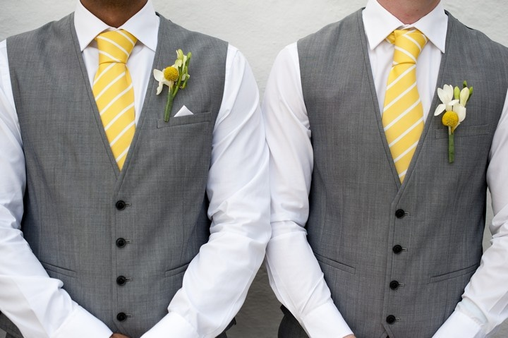 grey and yellow wedding colors 30