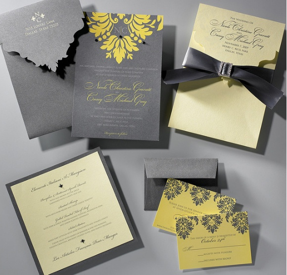 grey and yellow wedding colors 31