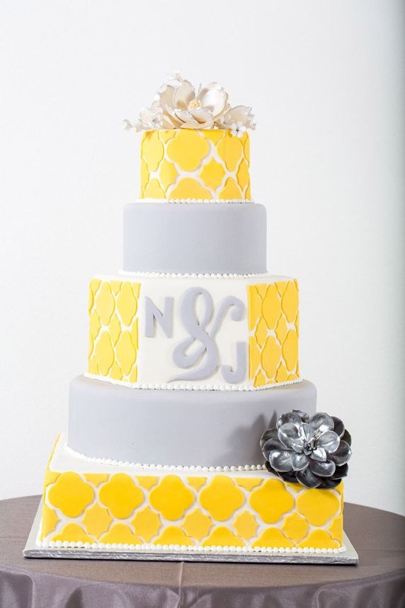grey and yellow wedding colors 33