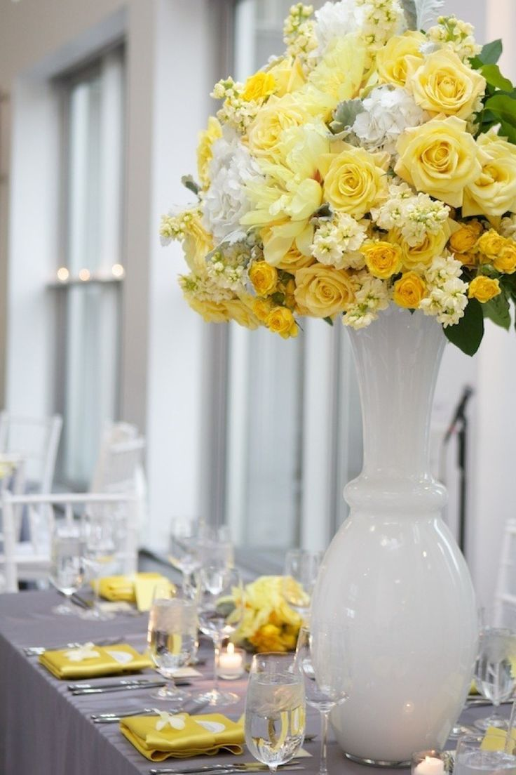 yellow and grey wedding idea 36