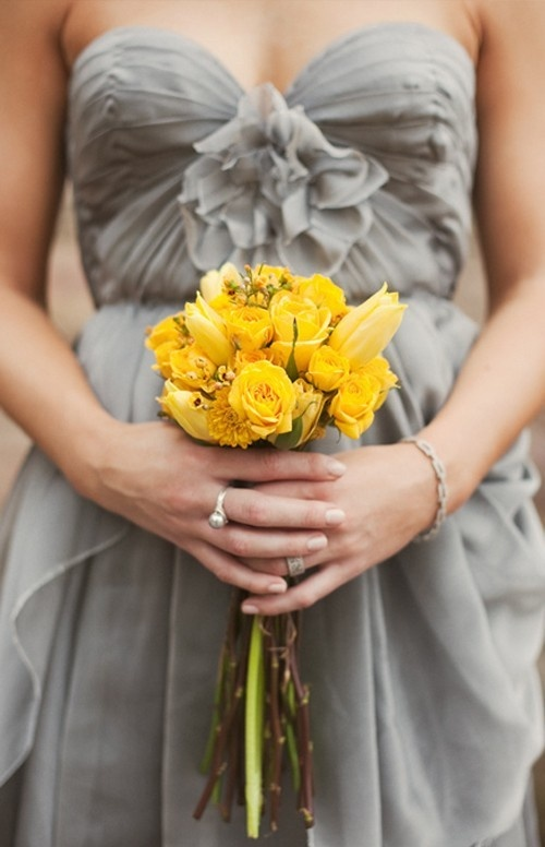 yellow and grey wedding idea 38