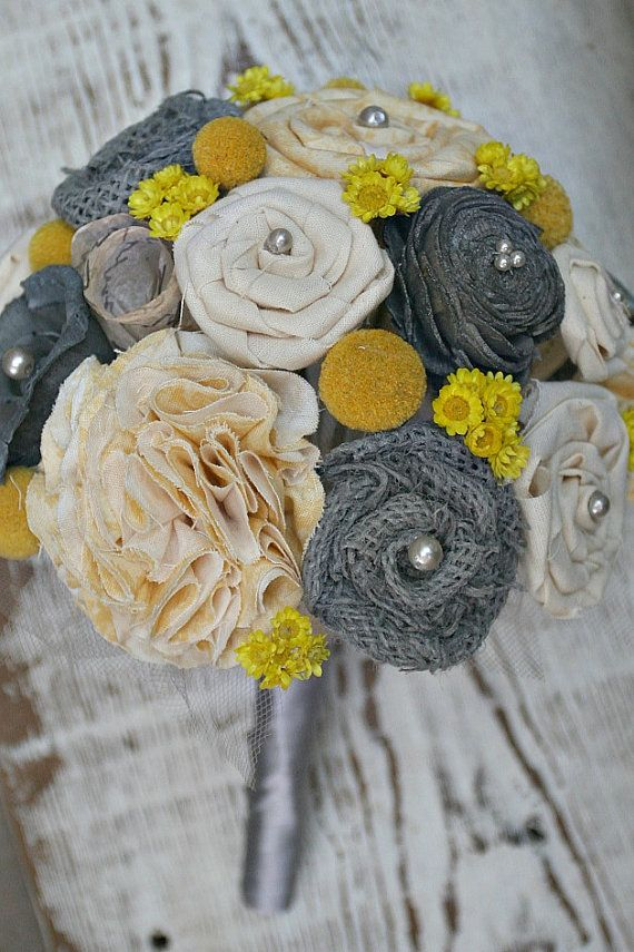 yellow and grey wedding idea 39