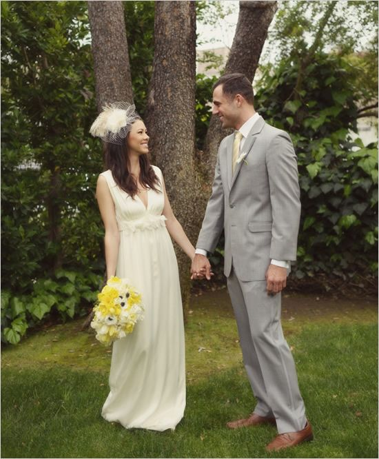 yellow and grey wedding idea 41