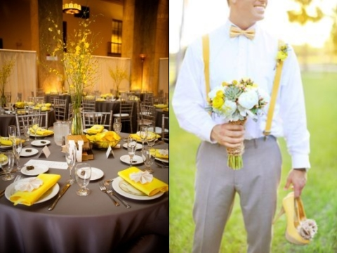 70 grey and yellow wedding ideas for spring and summer weddings inspiring wedding ideas in different colors junglespirit Image collections