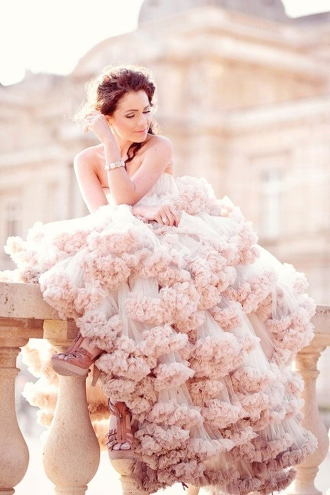 48 romantic pastel wedding gowns for Pink ombre wedding dress