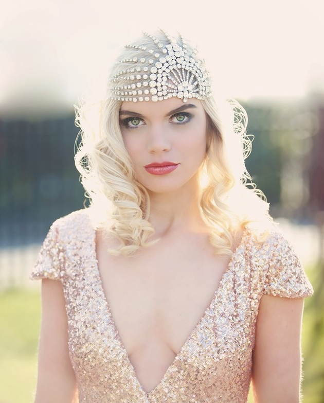 45 Fabulous Art Deco Bridal Headpieces