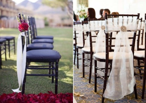 & 53 Cool Wedding Chair Decor Ideas With Fabric And Ribbon | HappyWedd.com