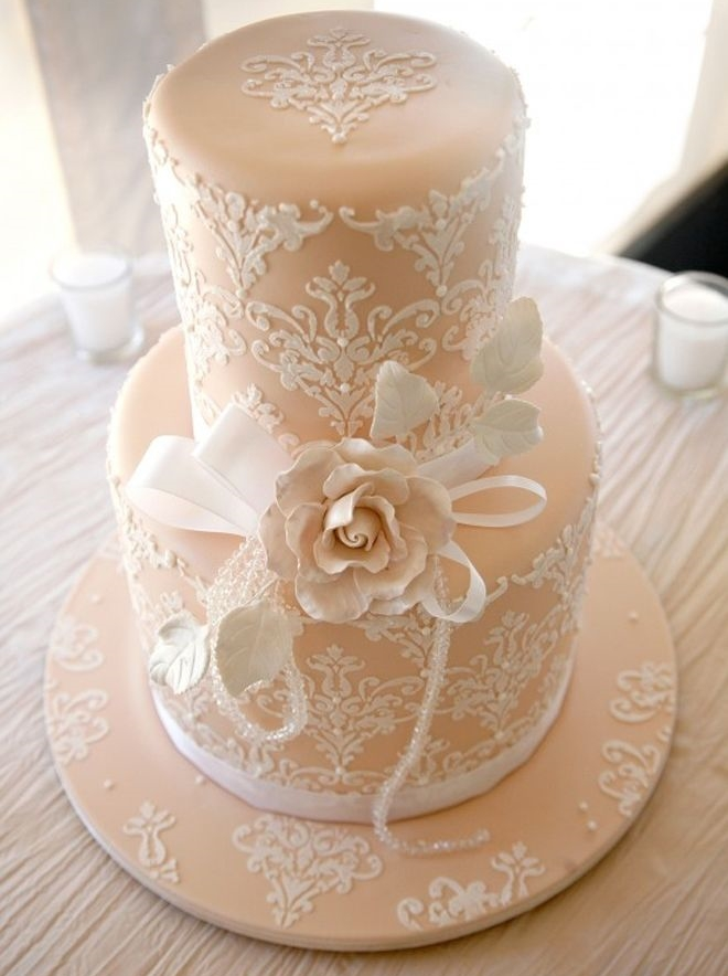 49 Adorable Lace Wedding Cakes