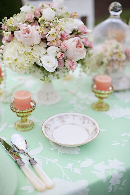 Peach And Mint Wedding Color 036