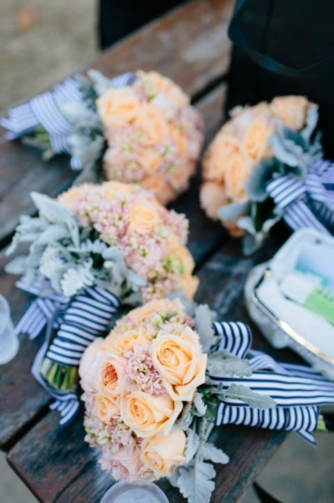 44 Striking Peach And Navy Wedding Ideas Happywedd