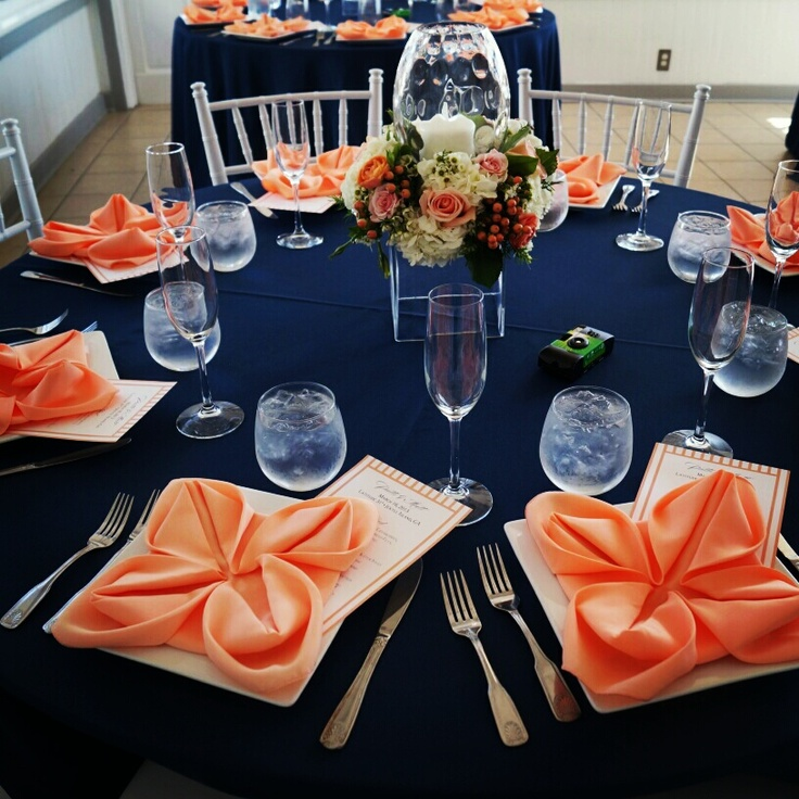 44 Striking Peach And Navy Wedding Ideas