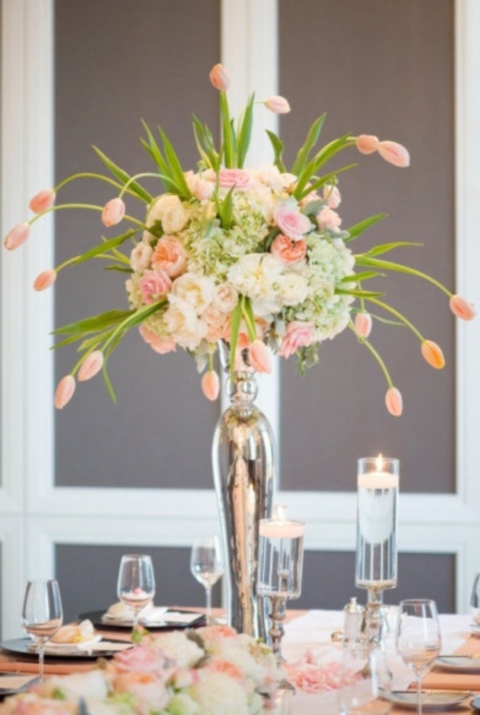 Fabulous spring wedding centerpieces happywedd