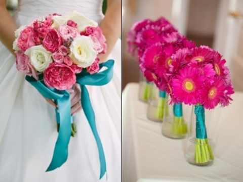 27 Vivid Turquoise And Fuchsia Wedding Ideas Happywedd Com