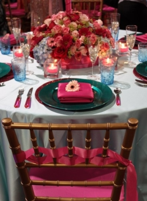 27 Vivid Turquoise And Fuchsia Wedding Ideas Happywedd