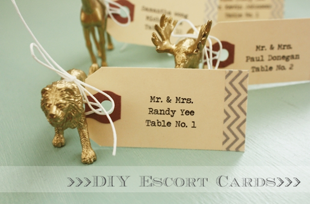 16 Lovely DIY Escort Cards