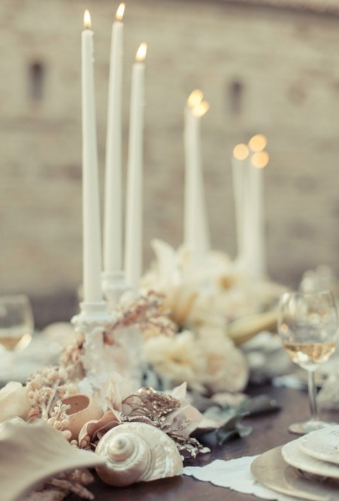 & 46 Charming Beach Wedding Table Settings | HappyWedd.com