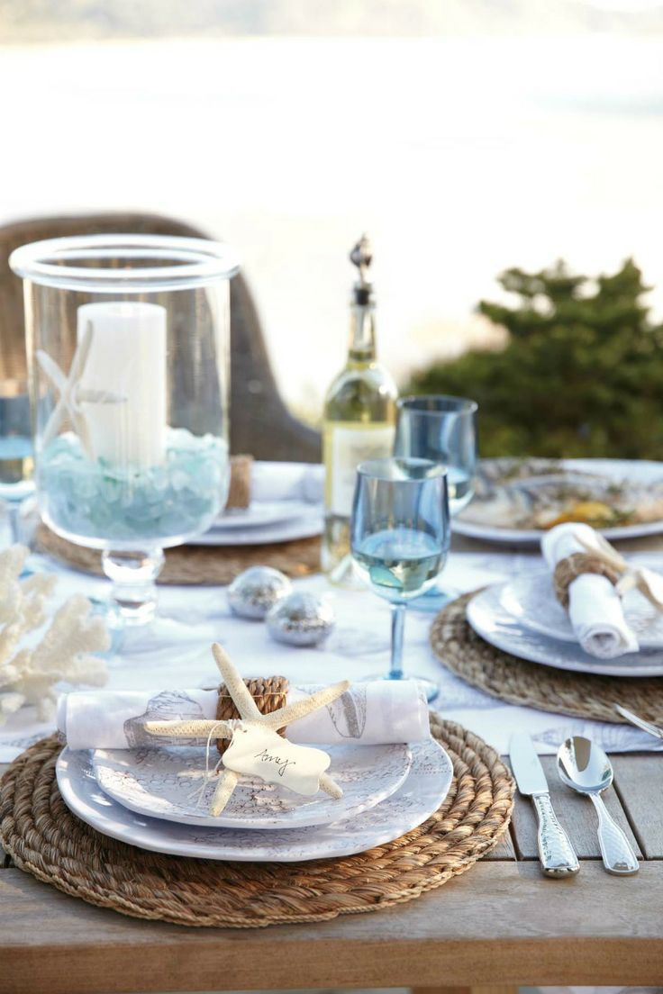 46 Charming Beach Wedding Table Settings