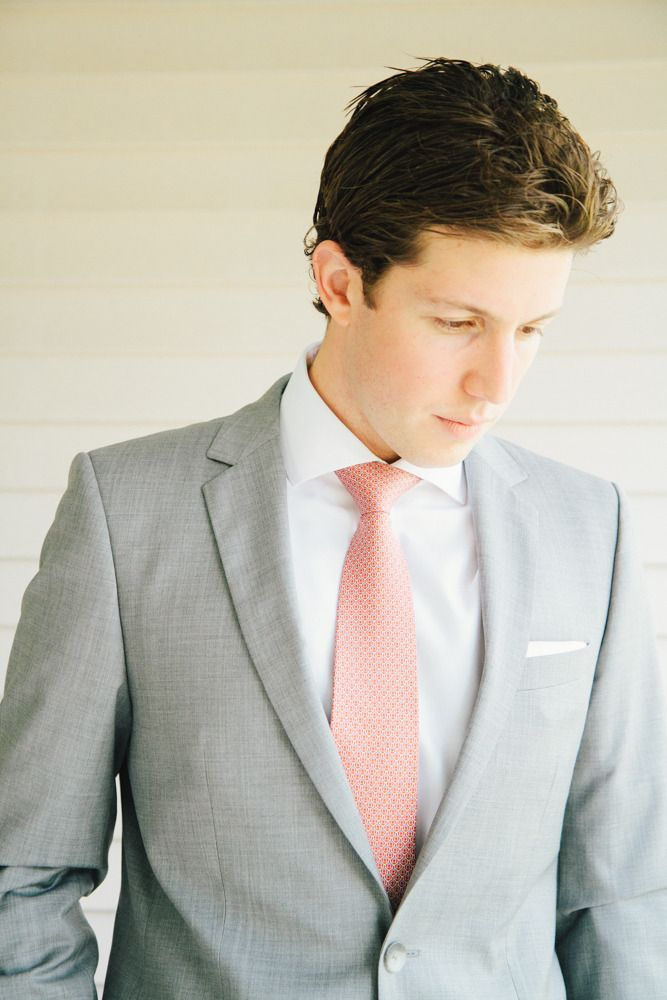 grey and coral wedding colors 13