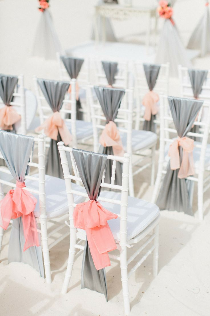 grey and coral wedding colors 14