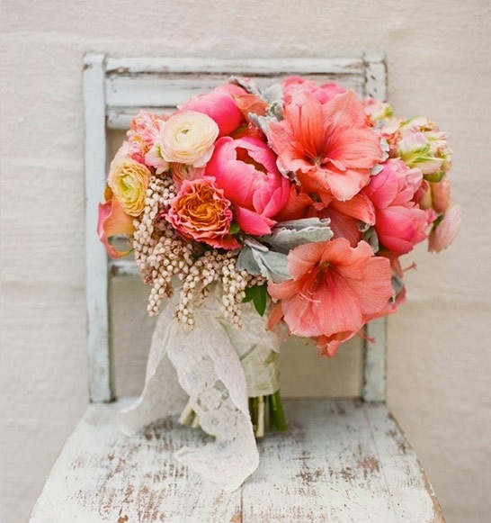 grey and coral wedding colors 19