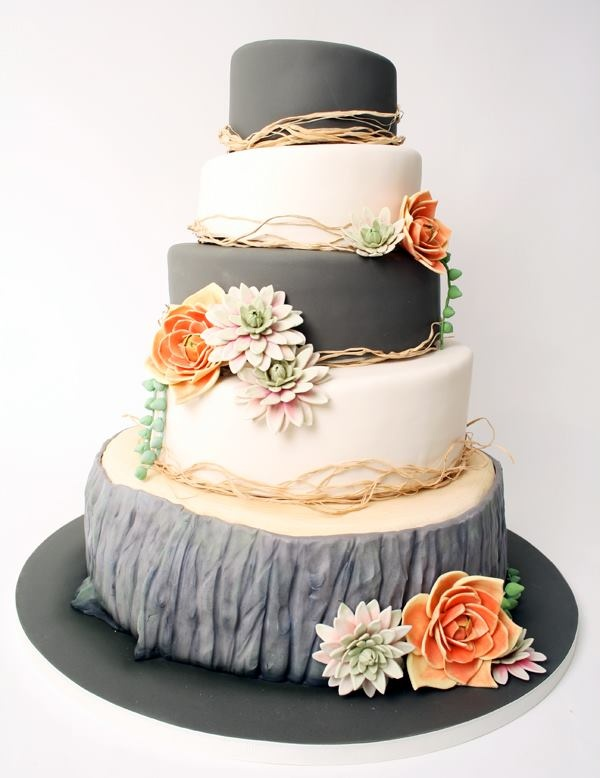 grey and coral wedding colors 27