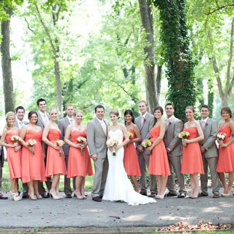 46 Elegant Grey And Coral Wedding Ideas Happywedd