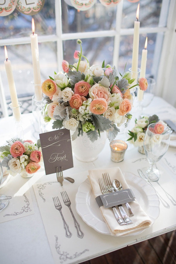 46 Elegant Grey And Coral Wedding Ideas HappyWeddcom