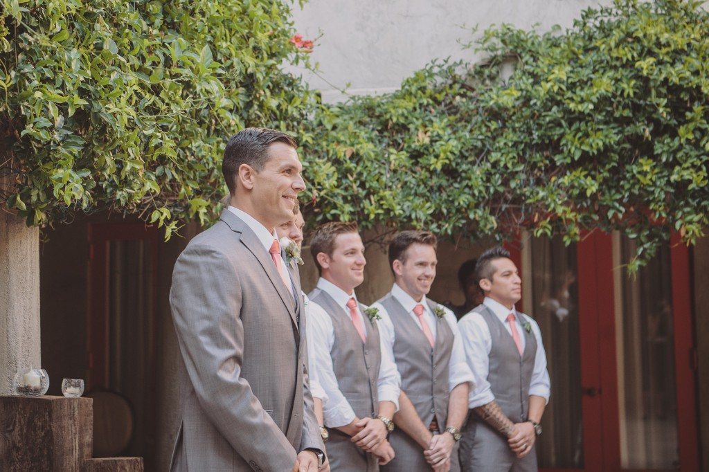 gray and coral wedding color ideas 40