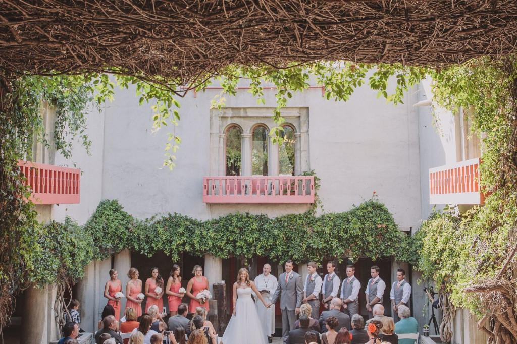 gray and coral wedding color ideas 41