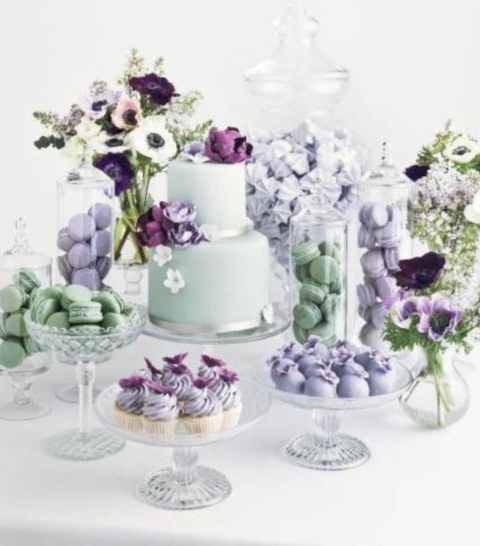 48 Delicate Mint And Lavender/Purple Wedding Ideas