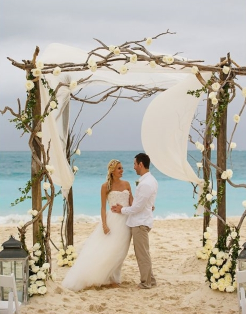 Diy Wedding Arch Beach 69 Adorable Beach Wedd...