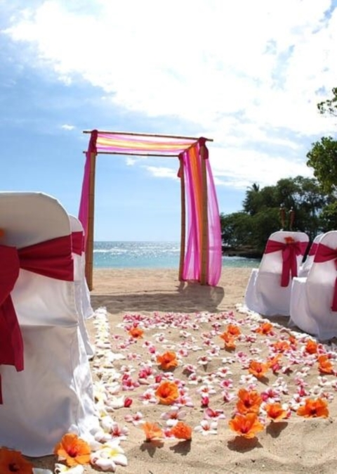 69 adorable beach wedding arches happywedd junglespirit Image collections