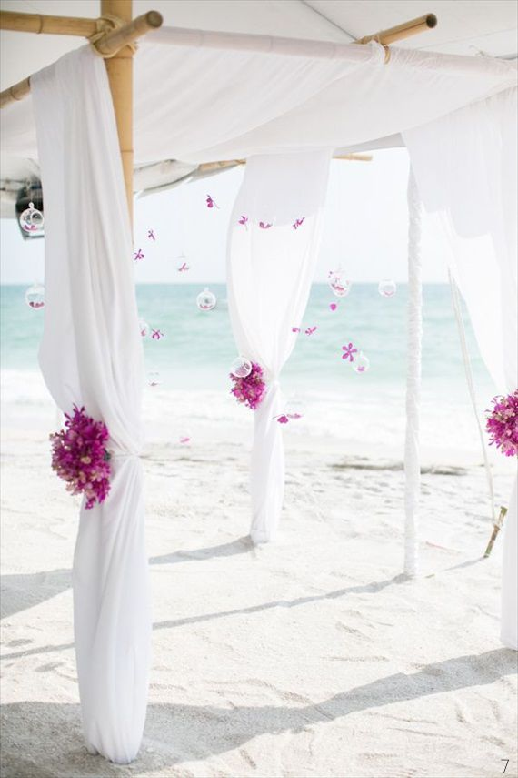 69 Adorable Beach Wedding Arches Happywedd