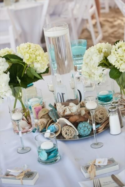 80 Beach Centerpieces That Will Drive You Crazy  : beachcenterpiece01 from happywedd.com size 480 x 720 jpeg 179kB