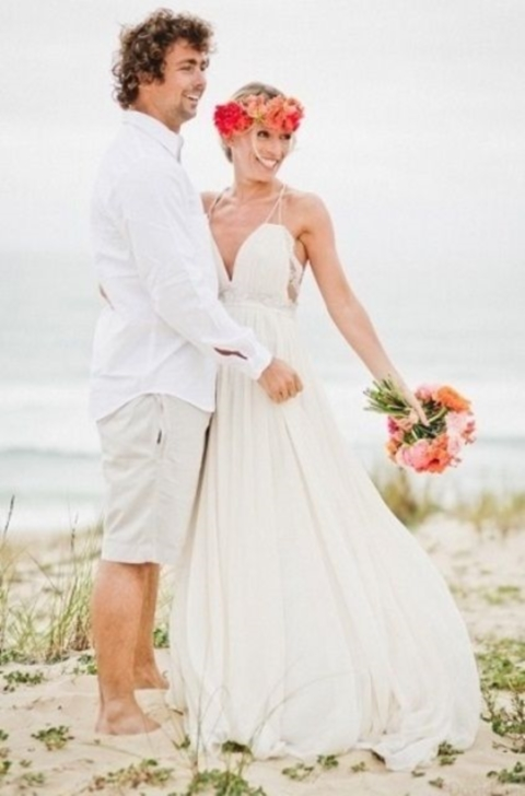 61 stylish beach wedding groom attire ideas for Wedding dress shirts for groom