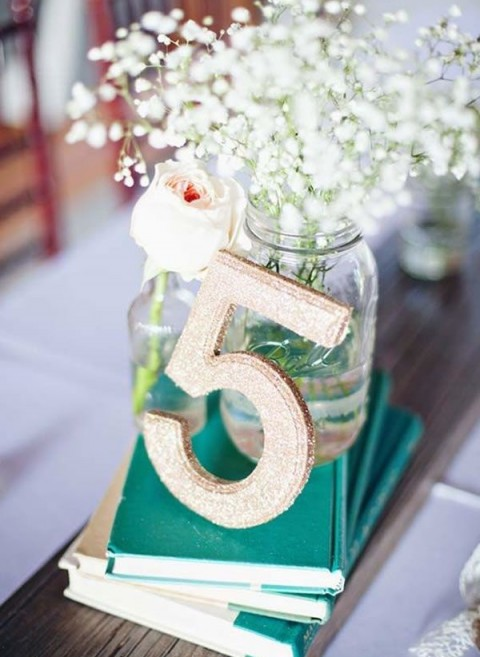 Creative beach wedding table numbers happywedd