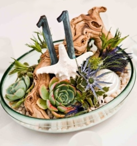 48 Creative Beach Wedding Table Numbers