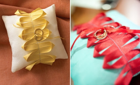 21 Beautiful DIY Ring Pillows To Make