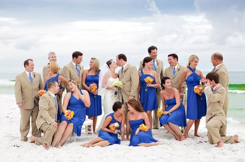 55 Awesome Blue Beach Wedding Ideas Happywedd Com