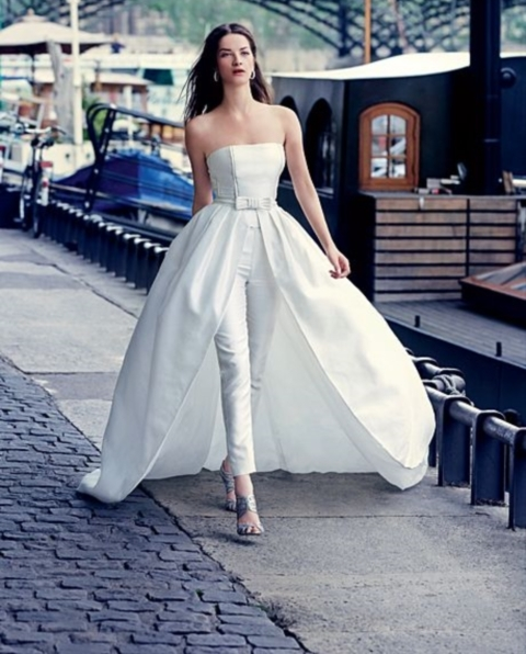2014 Wedding Trend: 53 Elegant Bridal Pantsuits