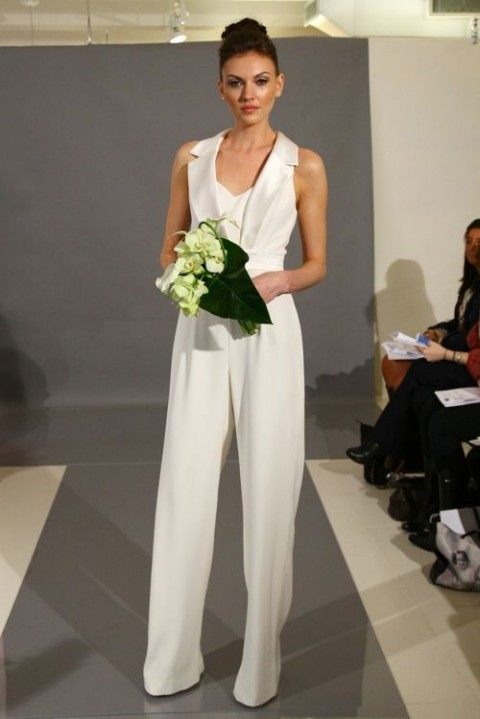 2014 wedding trend 53 elegant bridal pantsuits for Wedding dress pant suits