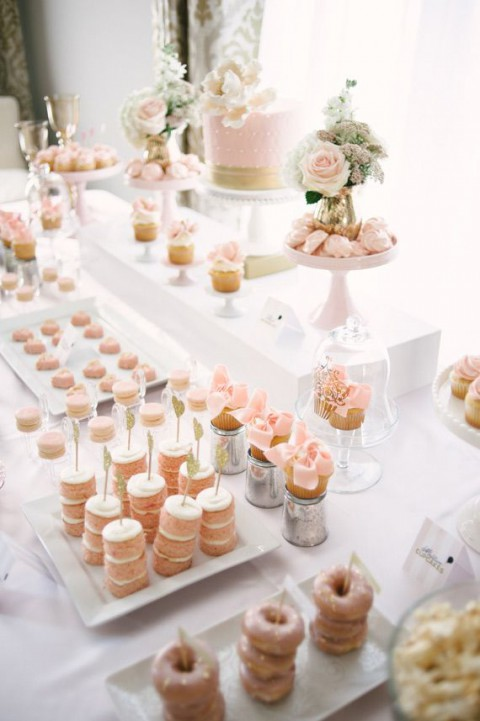 92 Beautiful Wedding Dessert Table Ideas | HappyWedd.com