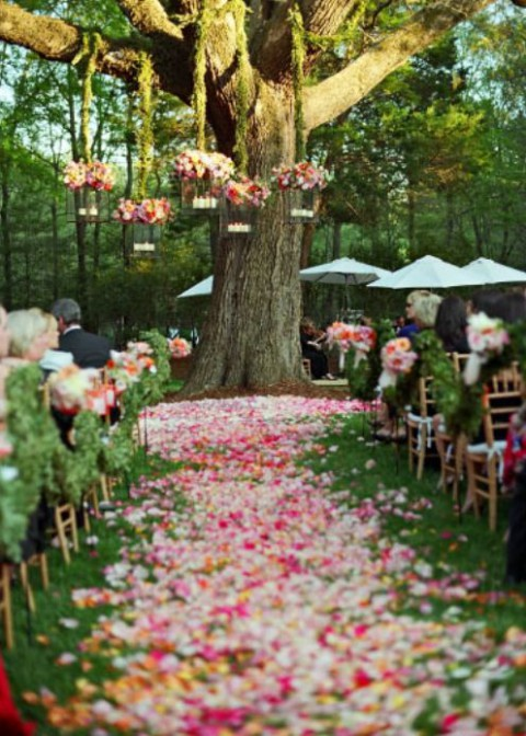 69 outdoor wedding aisle decor ideas for Aisle decoration for wedding