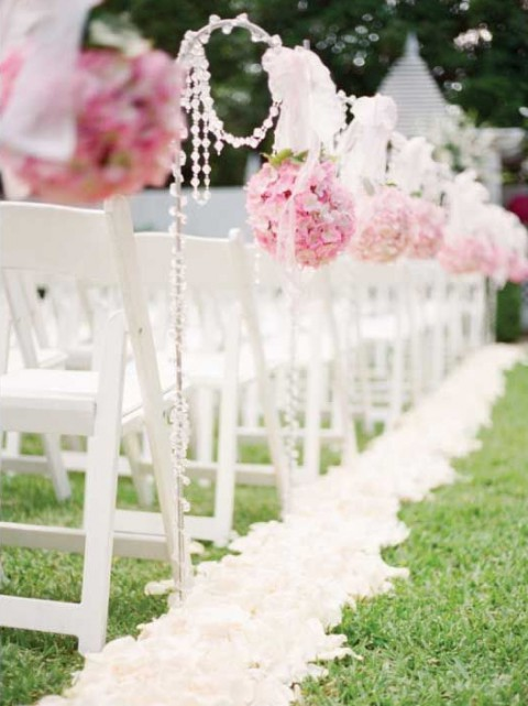 by Chloe & 69 Outdoor Wedding Aisle Decor Ideas | HappyWedd.com