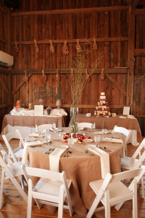 by Chloe & 98 Rustic Wedding Table Settings | HappyWedd.com