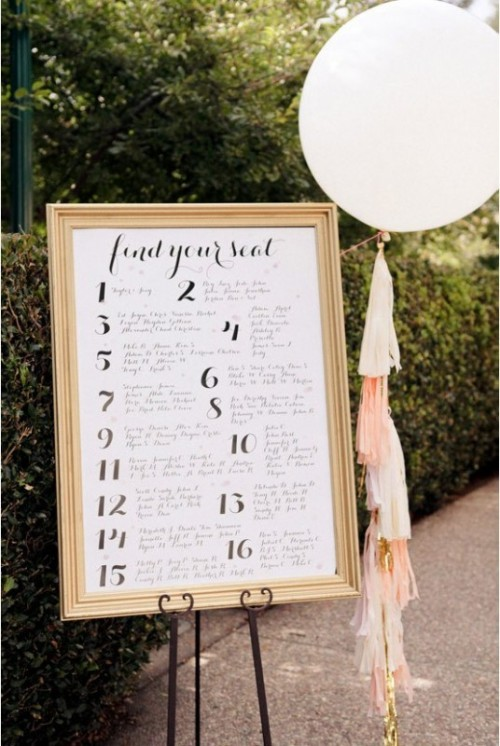 wedding seating chart ideas 44