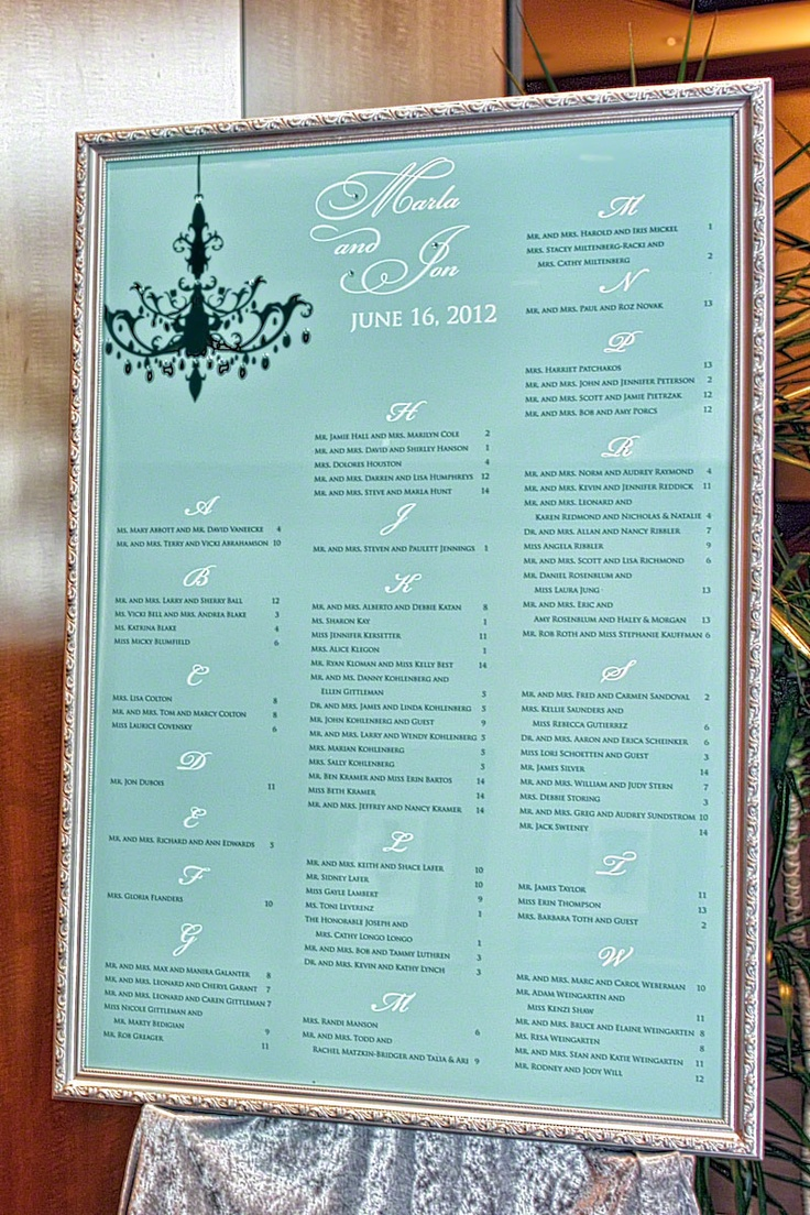 wedding seating charts 91