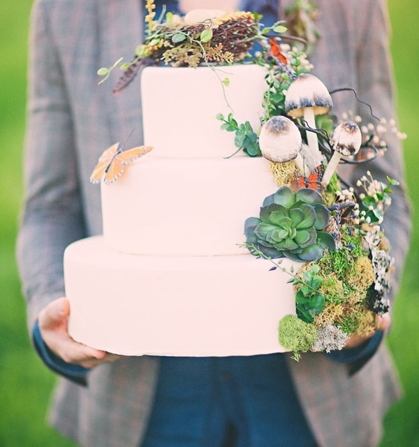 41 Yummy Woodland Wedding Cakes