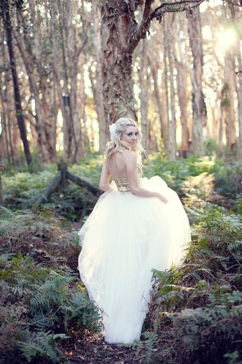 37 Woodland Wedding Dresses To Look Like A Forest Nymph | HappyWedd.com